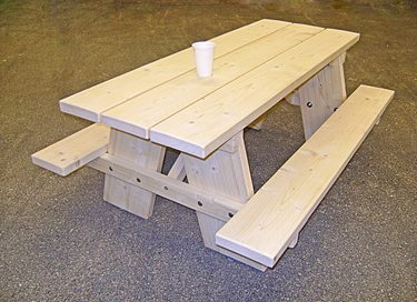 Steigerhout Kinder Picknicktafel