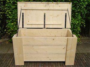 Opbergbox Kussens Tuin : Steigerhouten opbergbox voor in de tuin todosninos.nl todosninos
