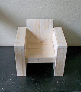 whitewash kinder lounge stoel