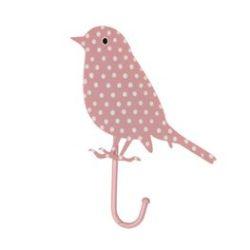 roze Bird haakje
