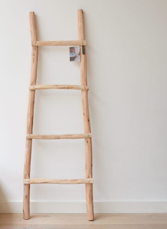Affordable een ladder in je interieur with muurrek blokker for Decoratie ladder blokker