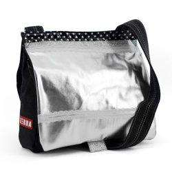 Zebra kids tas zilver:zwart